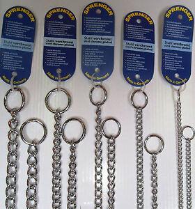 Sprenger Dog Check Collar - Round Link Chrome Plated Choker Chain - Medium 2.0mm