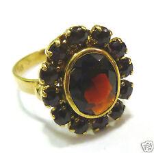 Granatring Goldring 333er Gold Granat 8 Karat Gelbgold Ring GG Gr. 57
