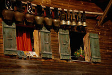 439089 pizzo facciata decorates finestra di una montagna HUT nell' Valais A4 PHOTO pr