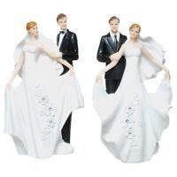 Brautpaar Hochzeitspaar Brautpaar klassisches Brautpaar  Tischdeko Tortenaufsatz
