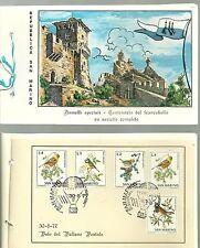 LIBRETTO ILLUSTRATO SAN MARINO 1977 CENTENARIO FRANCOBOLLO N. 4 ANNULLI SPECIALI