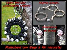 Portachiavi con sega a filo nascosta!!! Keychain with a Hidden Wire Saw!!!