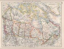 Dominio de Canadá mapa 1921 ~ ~ Quebec Ontario Manitoba British Columbia Alberta