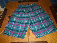 "Vintage Spooner Sportswear Plaid Shorts High Waist   About 25"" Waist Side Zipper"