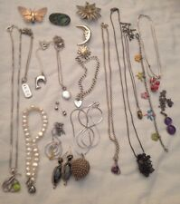 Sterling Silver Jewellery Job lot Earrings Necklaces Pendants Rings Not Scrap