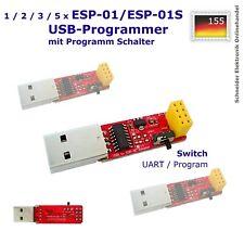 1 - 5 x USB-Programmer für ESP-01 / ESP-01S Schalter Modul ESP8266 ESP01 UART