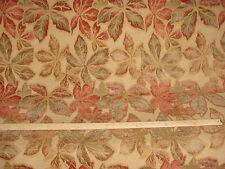 Robert Allen Rose Copper Gold Leaf Chenille Drapery Upholstery Fabric