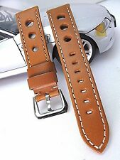 24mm Racing-Genuine Euro leather quality watch band strap