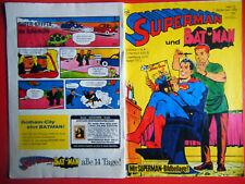 """Ehapa,"""" Superman"""": Heft 18/1968,mit Beilage in gutem Zustand(1-2-2)"""
