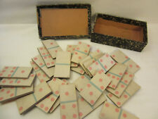 rare jeu de dominos ancien vintage fait main handmade antique domino game