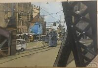 1969 Brisbane Four Motor Trams - Original Acrylic Painting On Canvas