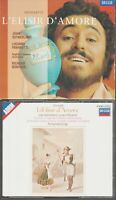 Donizetti L'elisir D'amore Pavarotti Sutherland West Germany DECCA Box Set 2cd