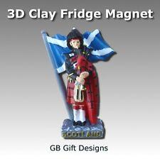 3D Scottish Highland Piper Flag Fridge Magnet Scotland Gift Xmas