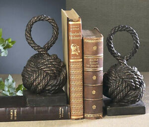 BOOKENDS - NAUTICAL KNOTS BOOKENDS - KNOT BOOK ENDS - NAUTICAL DECOR