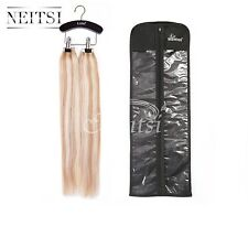 Hair Extensions Carrier Protector Case Bag + 1Pcs Hanger for Human Hair Storage