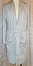 Barefoot Dreams Short Robe Pewter/Pearl Heather  Bamboo Chic Lite 3