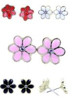 Lovely daisy / plum flower stud earrings 50s 60s retro multiple choices