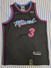 Dwayne Wade #3 Miami Vice City Edition Mens Swingman Black Jersey XXL