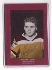 HARRY BELL SIGNED VINTAGE HOCKEY PHOTO AUTOGRAPH 1 NHL GAME NY RANGERS 1946-47
