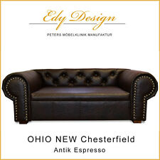 Sofá para perro OHIO Nuevo Chesterfield ANTIGUO Espresso XL cama HECHO A MANO -