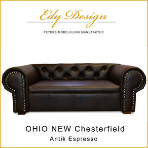 Hundesofa OHIO NEW Chesterfield Antik Espresso XL Dog Sofa Bed HANDMADE - NEU