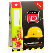 Large Helmet Safety ID Tag With Panel for Name for Sports and the Work Place