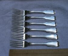 Set 6 Fine GALE & MOSELEY New York Coin FIDDLE THREAD Pattern DINNER FORKS
