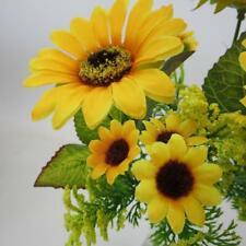 7 Heads Artificial Fake Sunflowers Flower Floral Bouquet Home Garden Decoration