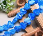 10pcs 18mm Heart Stripe Lampwork Glass DIY Finding Charms Loose Beads Sky Blue
