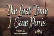 The Last Time I Saw Paris (1954) Elizabeth Taylor, Van Johnson Drama Romance DVD