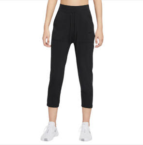 Nike Fall Bliss Luxe Black Lightweight Stretch Training Trousers RRP £79.99 L
