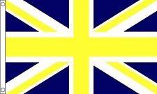 jaune et bleu drapeau Union Jack 5' x 3'