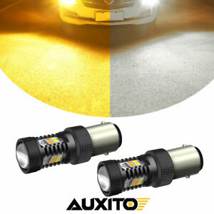 AUXITO Switchback LED Front Turn Signal Parking Light Bulb 1157 2357 Amber White