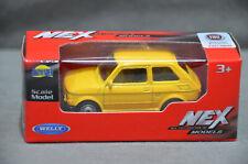 Welly NEX Polski Fiat 126p Yellow Diecast Model Scale 1:60 7cm Long New In Box