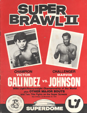"VICTOR GALINDEZ vs MARVIN JOHNSON  11""X14""  BOXING POSTER - PRO BOXING"