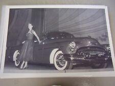 1953 BUICK SKYLARK CONV AUTO SHOW  12 X 18 LARGE PICTURE / PHOTO