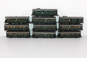 """Roco H0 (AC) 10x Personenwagen """"Donnerbüchse"""" der DB (T3086)"""