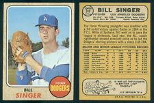 (37601) 1968 Topps 249 Bill Singer Dodgers-NM