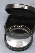 CARL ZEISS JENNA PROXAR 2 X 42 CLOSE-UP LENS IN CASE - FREE USA SHIPPING