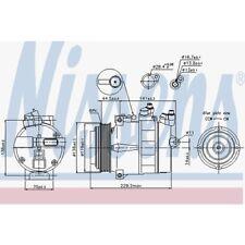 Nissens Kompressor, Klimaanlage Chrysler, Mercedes-Benz 89022