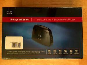 Linksys WES610N Entertainment Bridge 4-Port Dual-Band N 300 Mbps Speed