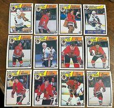 1983-84  O-Pee-Chee  CHICAGO BLACK HAWKS 20 card team  lot