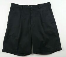Nike Golf Mens Polyester Fit Dry Pleated Black Dress Shorts Tag 34 Measured 35
