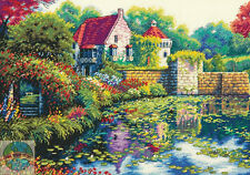 Cross Stitch Kit ~ Gold Collection English Castle Floral Home w/Garden #70-35326