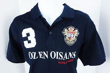 Unisex Medium Oz en Oisans Alpe d'Huez Blue 3 Button Polo Shirt B&C Safran