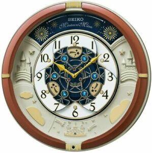 SEIKO RE601B Clock Wall Analog 52 Melody Song Automaton JAPAN