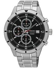 Seiko Men's Watch Quartz Stainless Steel Chronograph 100 m atm - 44mm Case