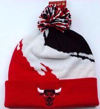 Chicago Bulls Mitchell & Ness NBA Splash Team Basketball Knit Pom Hat Beanie