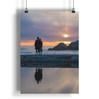 Love Person People Sunset Sunshine  A0 A1 A2 A3 A4 Satin Photo Poster a1312h