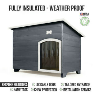 Outdoor Dog Kennel / House Winter Weather Proof Insulated - XL Silver Copse 101